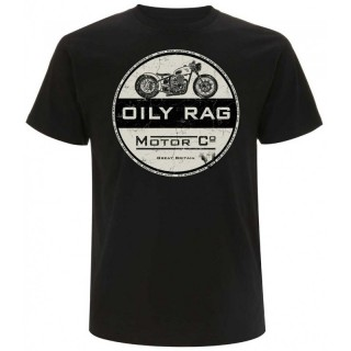 Tee shirt moto oily rag motor co