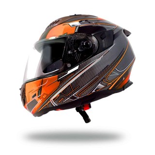 casque moto up ultralight orange