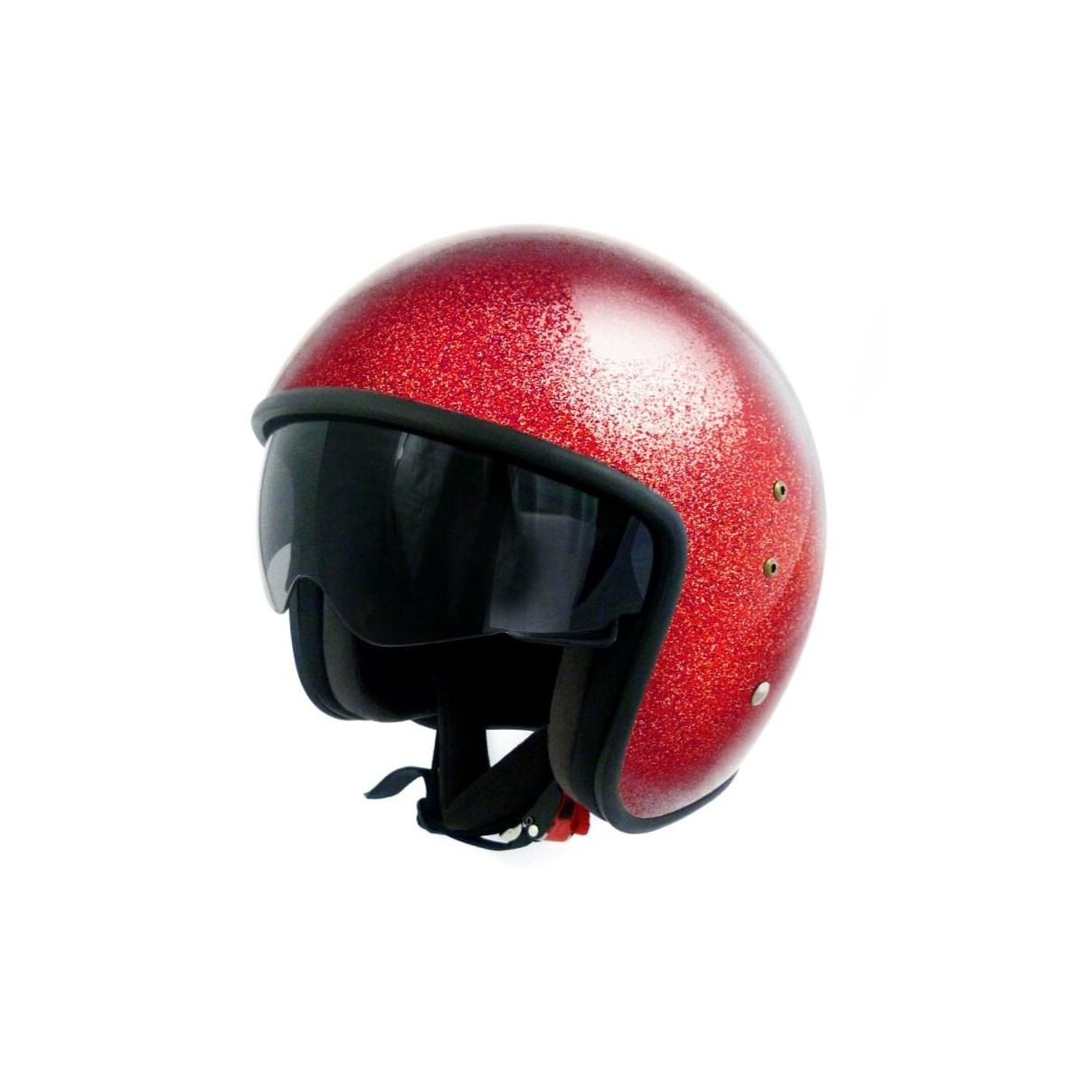 Casque Moto Jet Vintage Up Smart Glitter Paillete Moto Dream Com