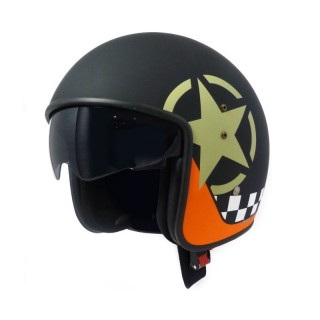 casque moto jet vintage smart star noir