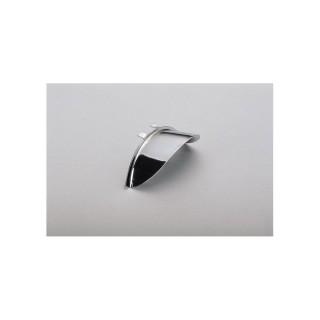 casquette de phare moto chromée