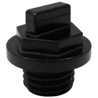 Bouchon d'huile anodisé Mad noir ø 30 mm