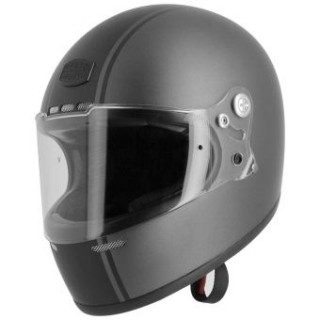 Casque Astone GT RETRO STRIPES MATT GRIS NOIR