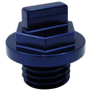 Bouchon d'huile anodisé Mad bleu ø 27 mm
