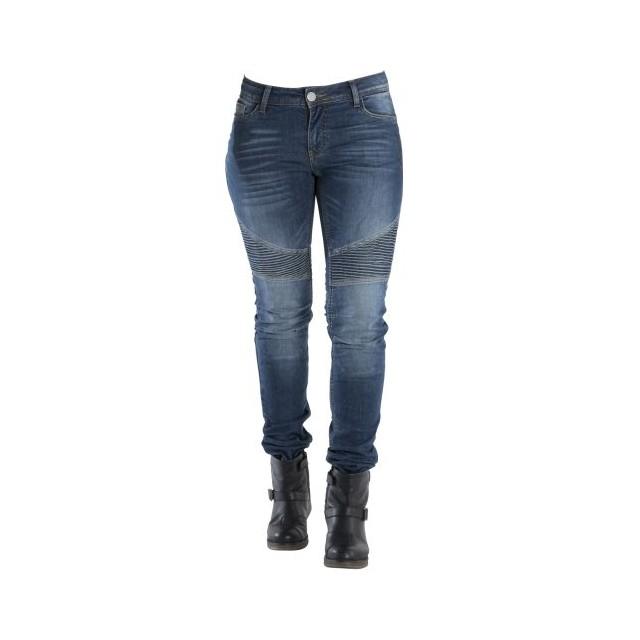Jeans moto overlap imola smalt