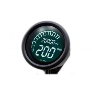 Compteur de vitesse noir