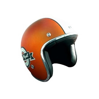 Casque moto Jet Wyatt famous orange