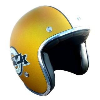 Casque moto Jet Wyatt famous jaune