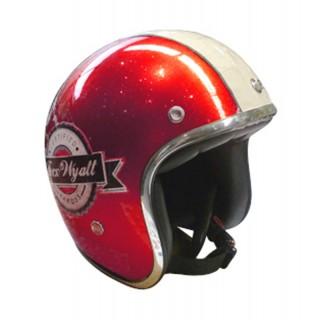 Casque moto Jet Wyatt famous rouge