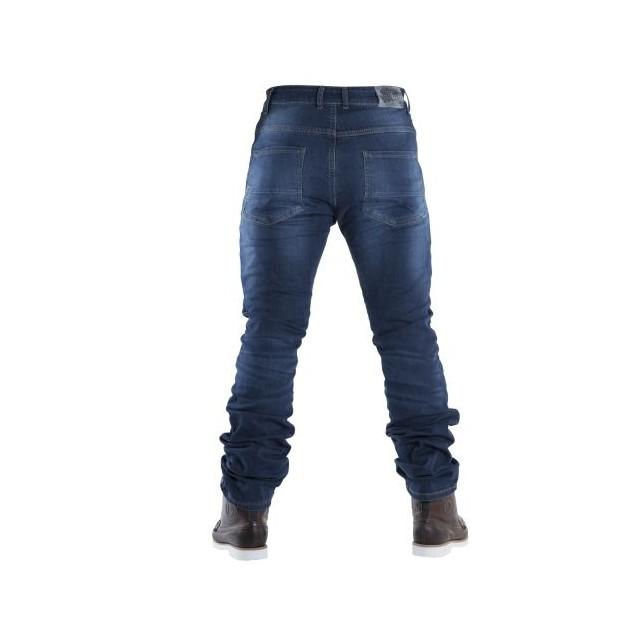 Jeans moto Overlap Street smalt