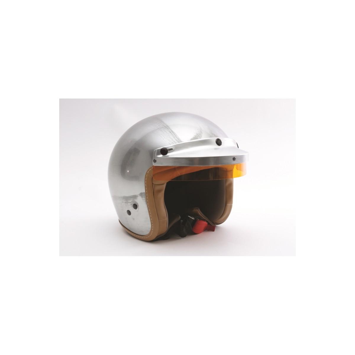 Casque moto jet rétro Gulf Acier