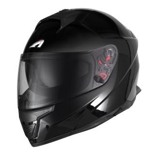 Casque moto integral astone gt 1000 f en fibre noir brillant