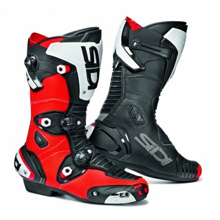 Bottes racing Sidi Mag one air rouge fluo et noir