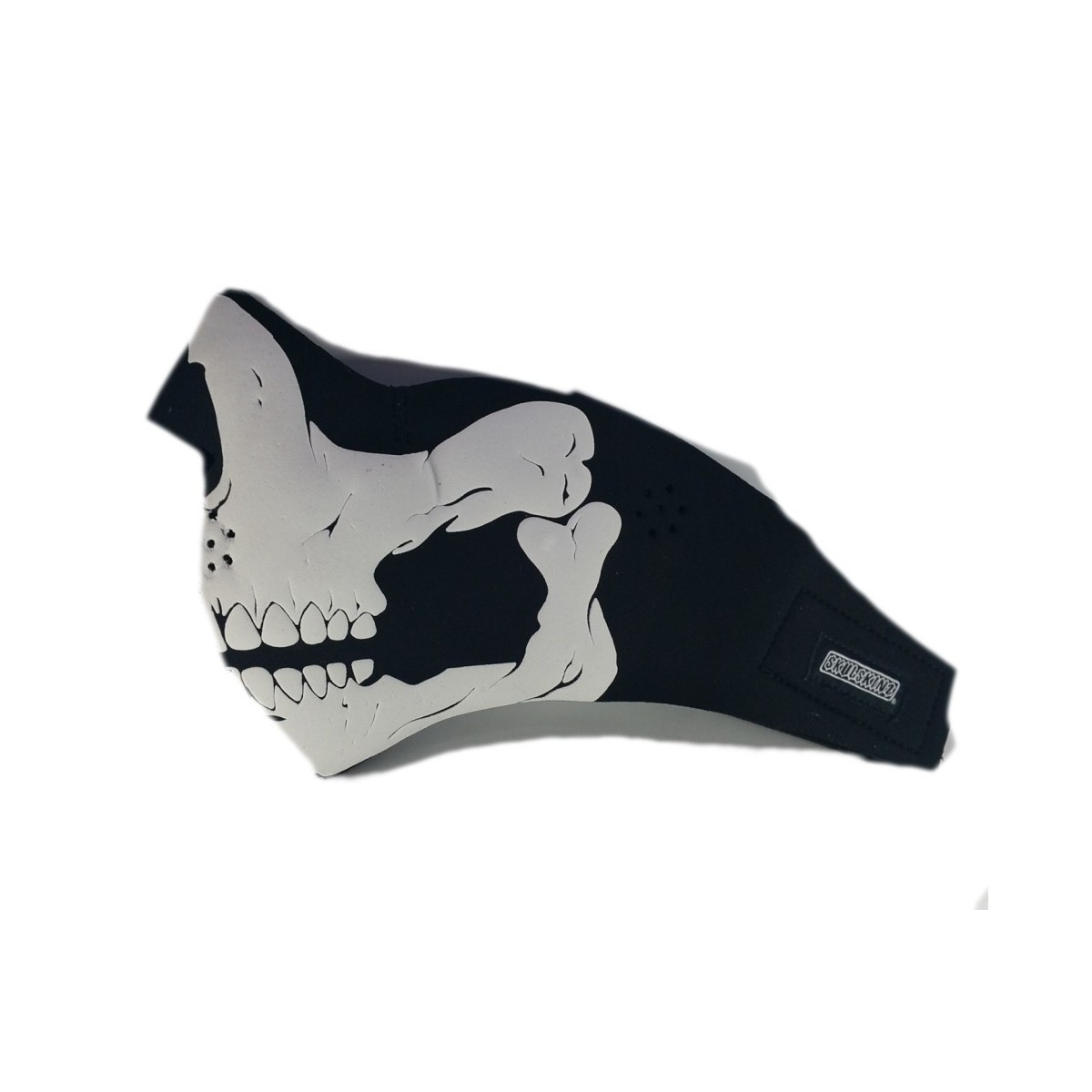 masque moto néoprène tête de mort