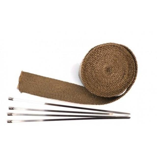 bande thermique d 39 chappement marron en largeur 25 ou 50 mm moto. Black Bedroom Furniture Sets. Home Design Ideas