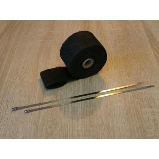bande d'échappement thermique noire de 50 mm de large