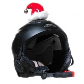 Décoration casque moto père noël