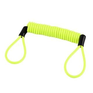 cable rappel antivol reminder jaune fluo