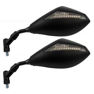 Rétroviseur moto MAD vega noir gauche et droite clignotants intégrés