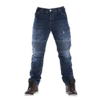 Jeans moto Overlap Road Smalt