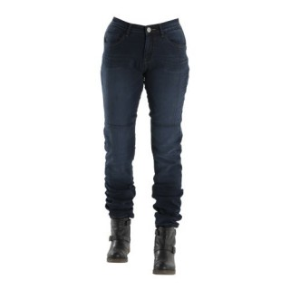 Jeans moto overlap city lady dark