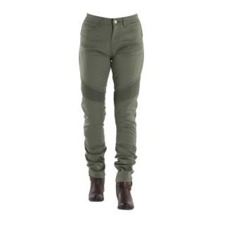 Jeans moto femme Overlap imola cactus