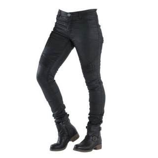 Jeans moto femme overlap imola night