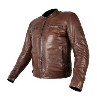 Blouson cuir moto Overlap Barry Brown