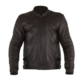 Blouson cuir moto Overlap Barry Brown