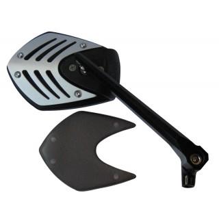 Rétroviseur moto MAD tomahawk black-silver gauche et droit