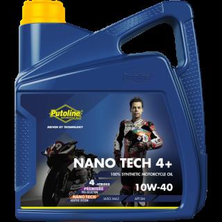 Huile moteur 4 temps Putoline Nano Tech 4+ 10w40 4 litres