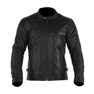 Blouson cuir moto Overlap Wayne black
