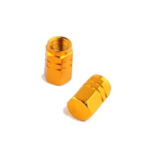 bouchons de valves alu anodisé or