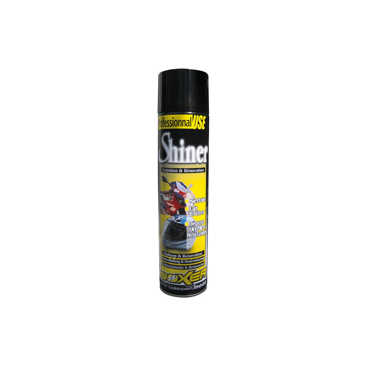 Rénovateur moto Boxer Shiner en spray 600 ML