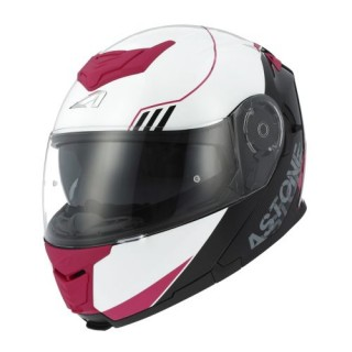 Casque modulable Astone RT 1200 Graphic Upline rose et gris