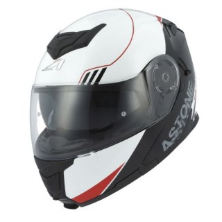 Casque modulable Astone RT 1200 Graphic Upline rouge et blanc