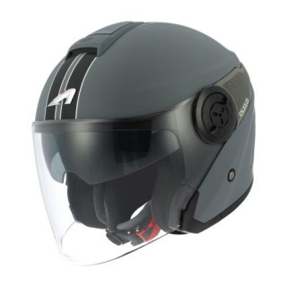 Casque moto Jet Astone DJ10 Graphic gris
