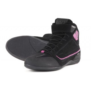 Baskets moto v quattro GP4 lady WP noir et rose
