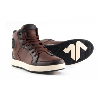 Baskets moto v quattro twin marron