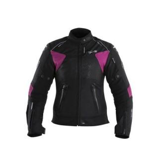 Blouson moto v quattro Sp-51 femme noir et rose