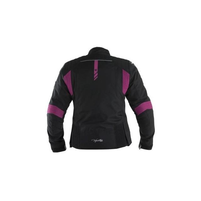 Blouson moto femme v quattro SP-21 noir et rose