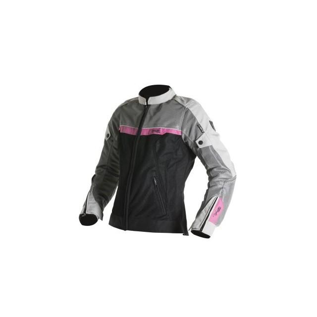 Blouson moto femme v quattro VE51 noir gris et rose