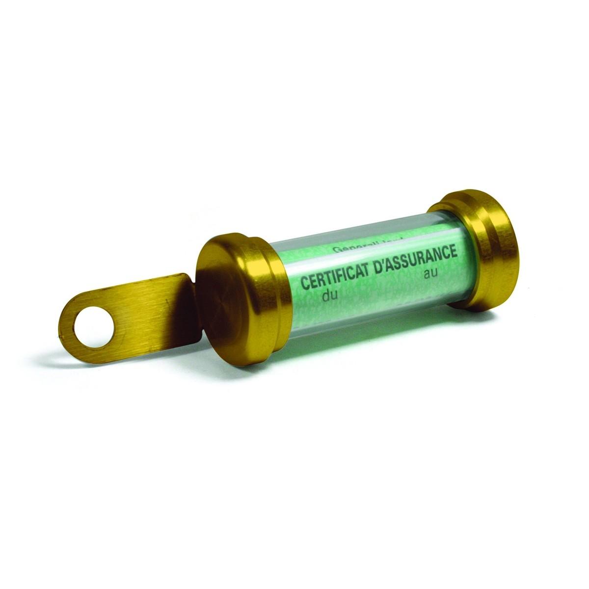 Porte vignette tube or