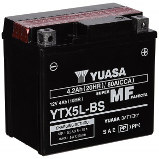 Batterie YUASA YTX5L-BS 12 volts 4.2 ah
