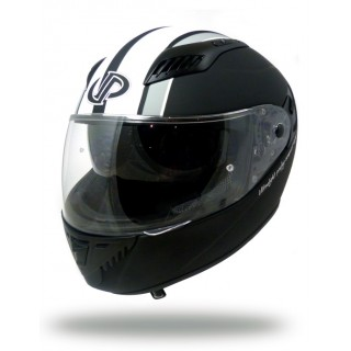 casque moto fibre up ultralight vintage noir et blanc