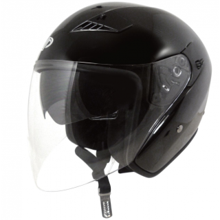 Casque moto jet UP Suburban noir mat
