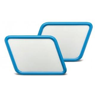 Plaque de numero Cafe racer bleu