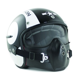Casque moto jet harisson snooler noir brillant