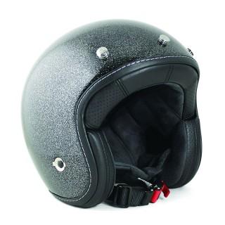 Casque moto jet harisson hellcat glitter noir