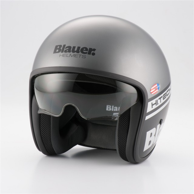 casque moto jet blauer pilot brillant moto. Black Bedroom Furniture Sets. Home Design Ideas